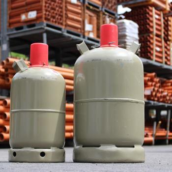 two propane tanks