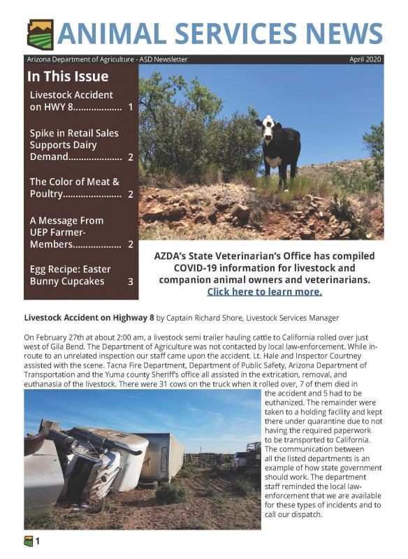 Animal Services News Poster, ASD Newsletter