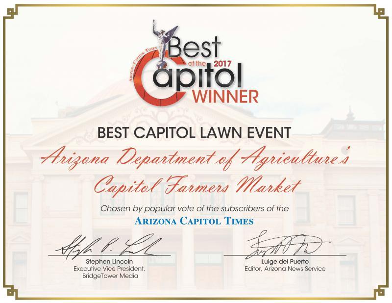 Capitol Farmers Market Award