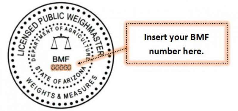 Weighmaster Seal Template