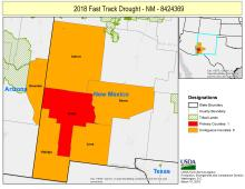 NM USDA DISASTER DROUGHT MAP